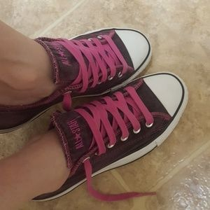 Pink all star converse sneakers